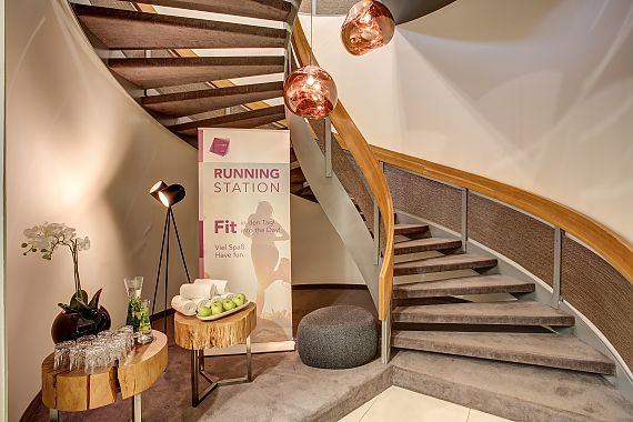 Guests of FourSide Hotel Braunschweig are welcome to use our running station, fitness area, and sauna at no extra charge.